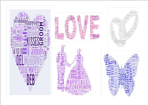 Bridesmaid & Wedding Word Art Keepsake